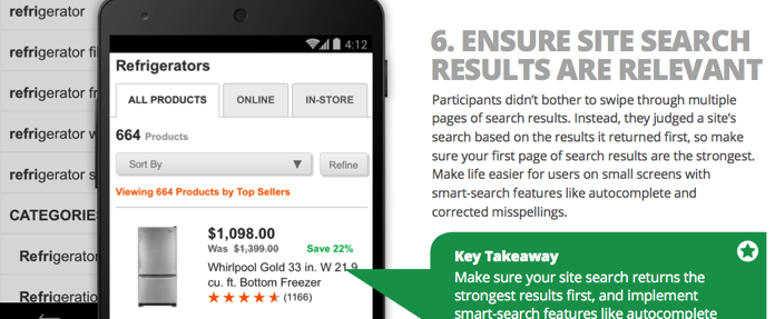 Ensure site search results are relevant 2