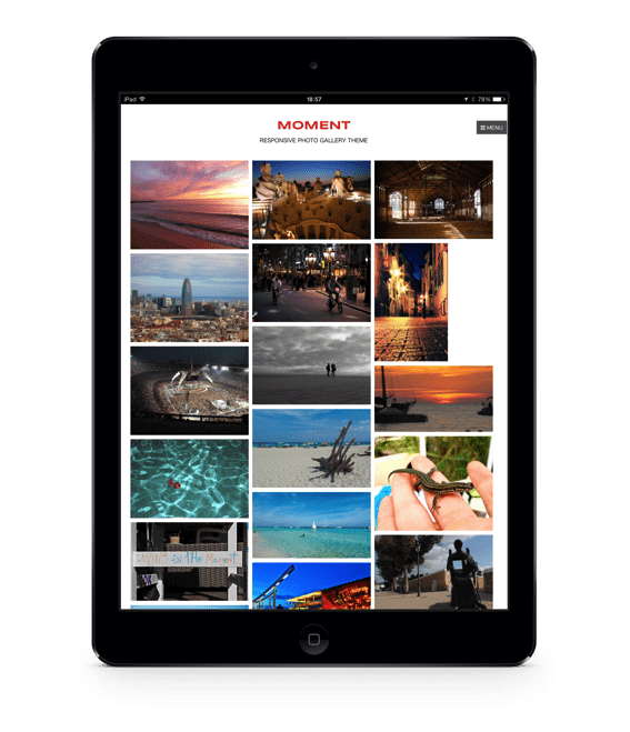 Moment iPad photoshop template